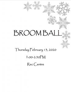 Broomball @ Recreation Centre