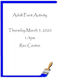 Adult Paint Activity @ Recreation Centre